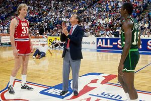 """I guess I'm looking at the runner up."" -Larry Bird to Craig Hodges before the 1986 final."